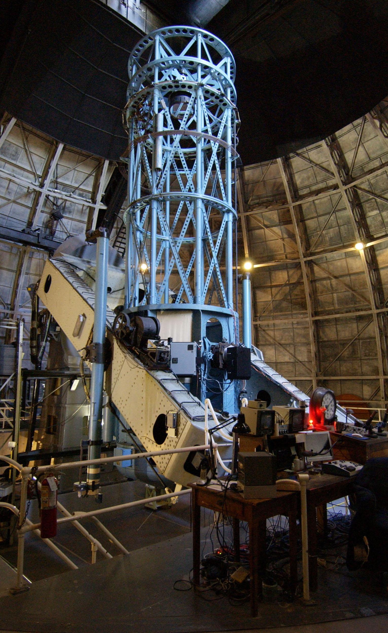 Telescópio Hooker do Observatório Mount Wilson, Califórnia.