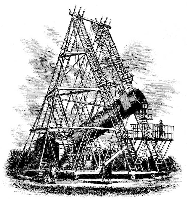 O telescópio de Sir William Herschel.