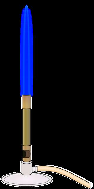 Imagem com um desenho do dispositivo queimador Bico de Bunsen.