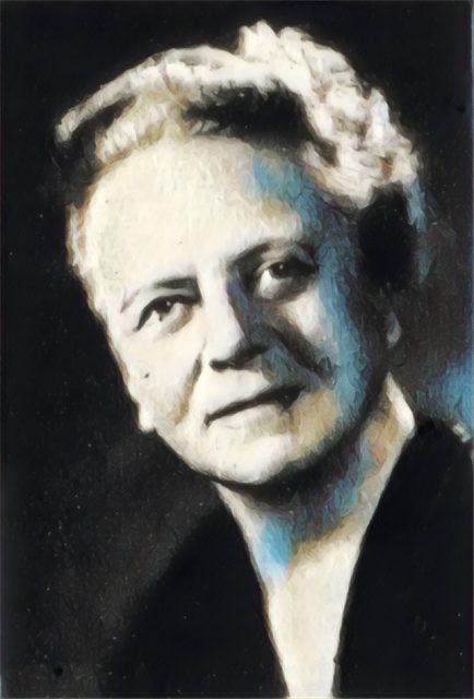 Imagem adaptada de um retrato de Ida Noddack.