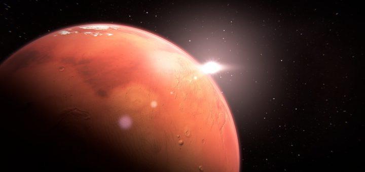 Ilustração planeta Marte