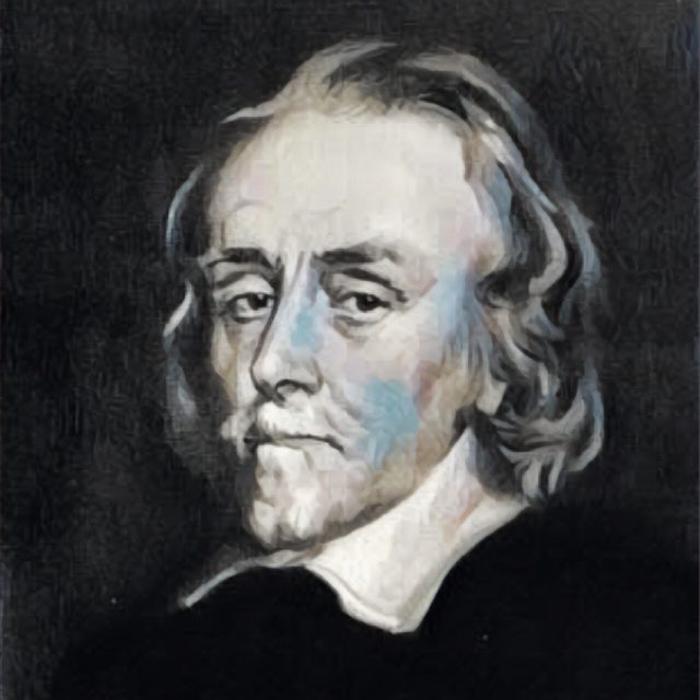 Imagem adaptada de um retrato de William Harvey.